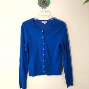 Lilly Pulitzer pierre cardigan cobalt blue small